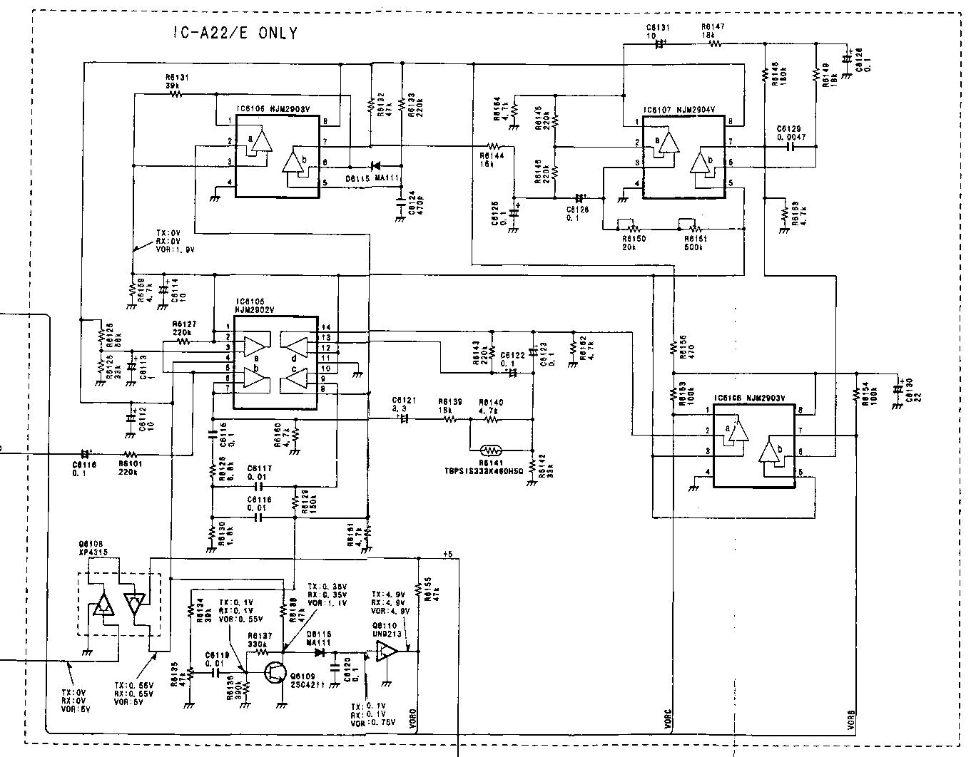 Diagrama el ctrico del tranceptor icom ic a22 e la parte for Planos electricos pdf