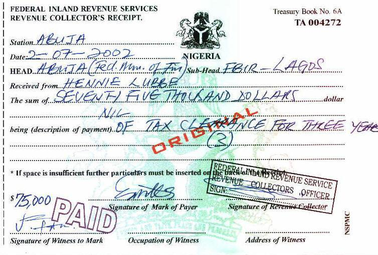 Nigerian fraud 419 example certificates yelopaper Choice Image