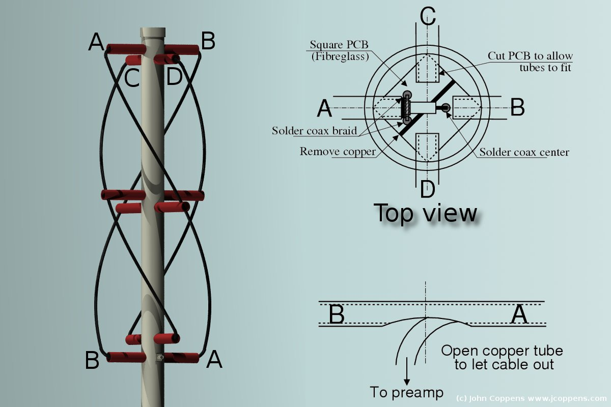 How To Build The Worlds Lightest Quadrifilar Helix Antenna Lvl1 Wire Is Control And Brown Wires Are Your Ground Let Http Jcoppenscom Ant Qfh Img V2 012jpeg
